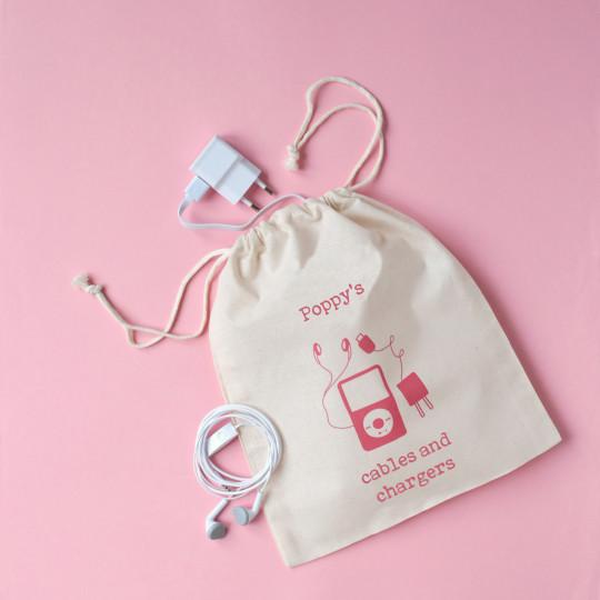 Personalised Spare Shoe Bag Drawstring