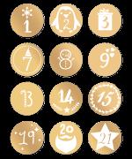 Etiquette Numéro De Lavent De Noël Pour Créer Son Calendrier De L
