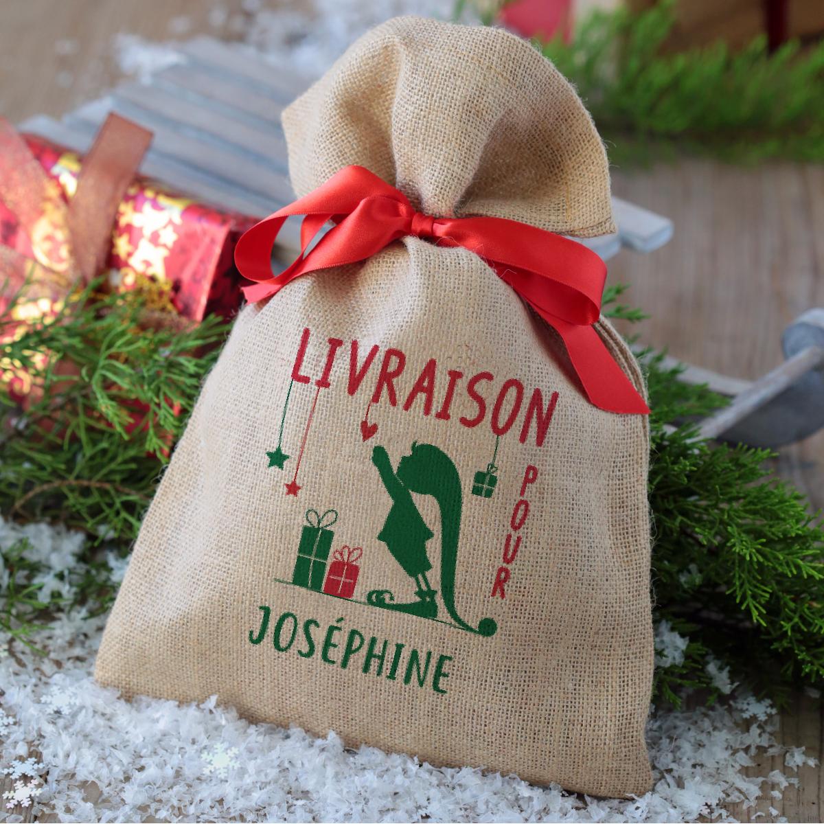 petit sac de Noël personnalisé