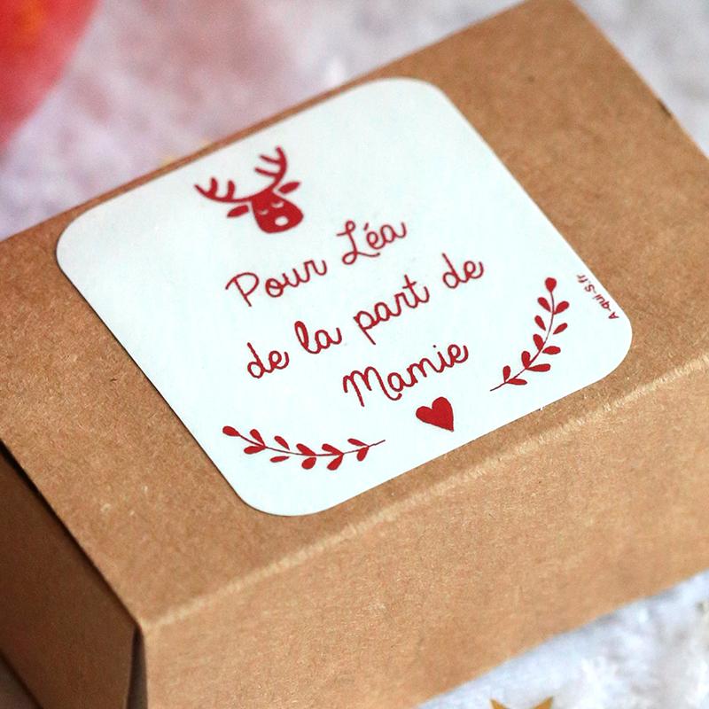 étiquette de Noël personnalisées