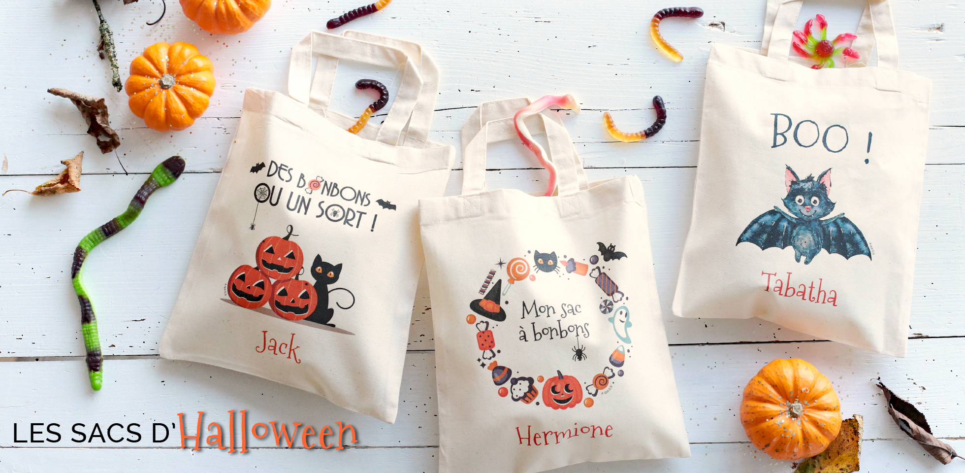Les sacs d'Halloween