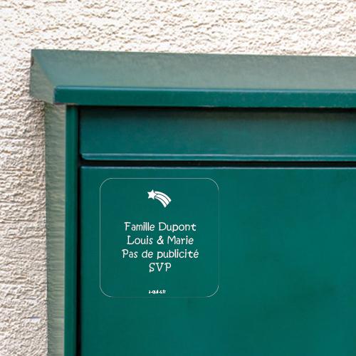 étiquette boîte aux lettres
