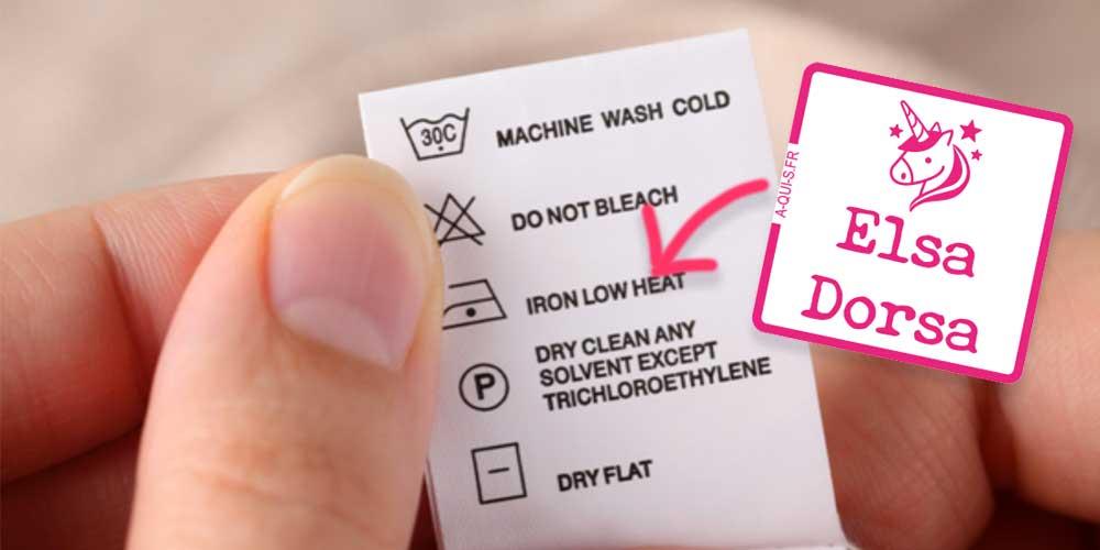 Étiquettes vêtements à coller