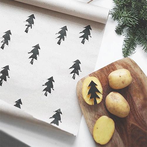 Fabriquer des tampons pommes de terres et créer ses propres motifs !