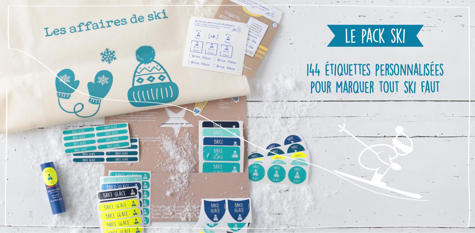 Pack étiquettes ski