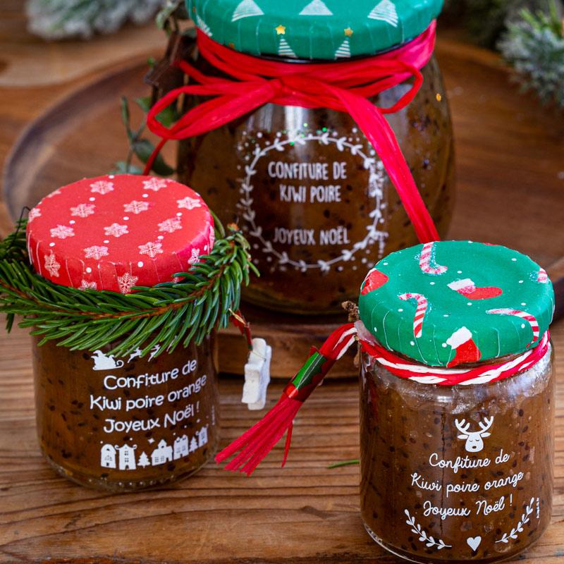 Recette de confiture poire-kiwi-orange et étiquettes personnalisées