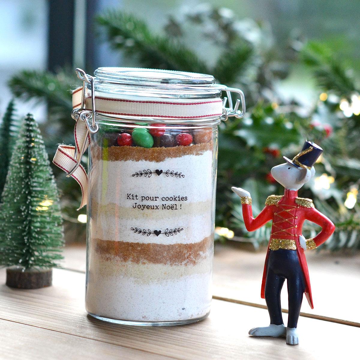 Un cadeau gourmand, simple et rapide pour Noël : le kit à cookies !