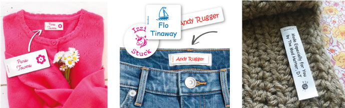 Personalised name labels for children: what type to choose?