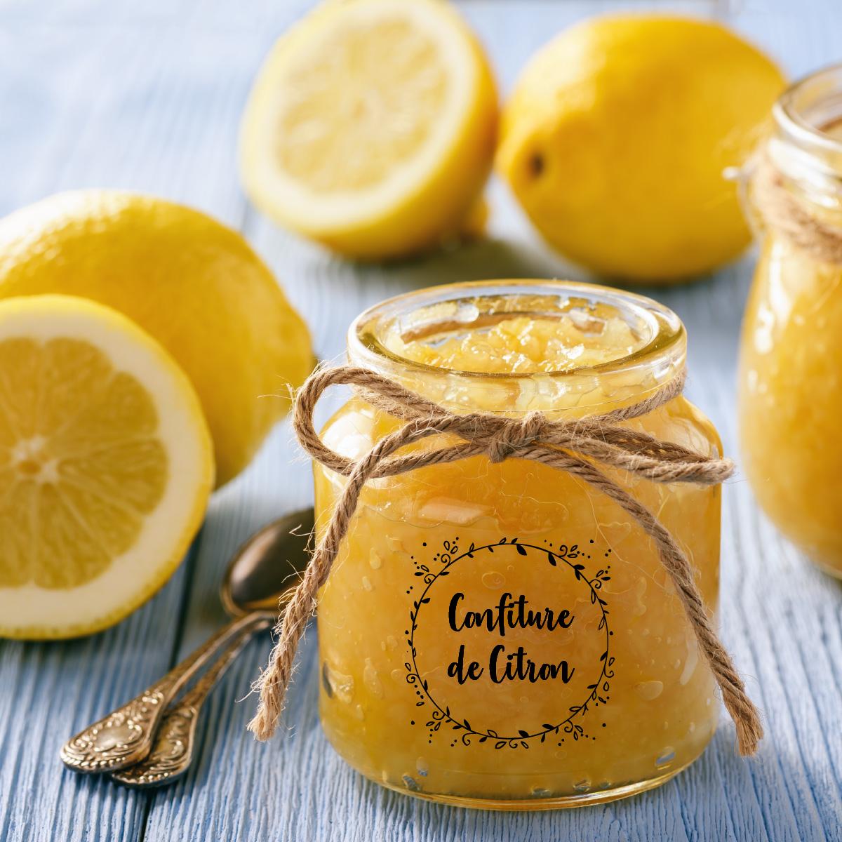 Confiture de citron : étiquettes personnalisées et livraison gratuite