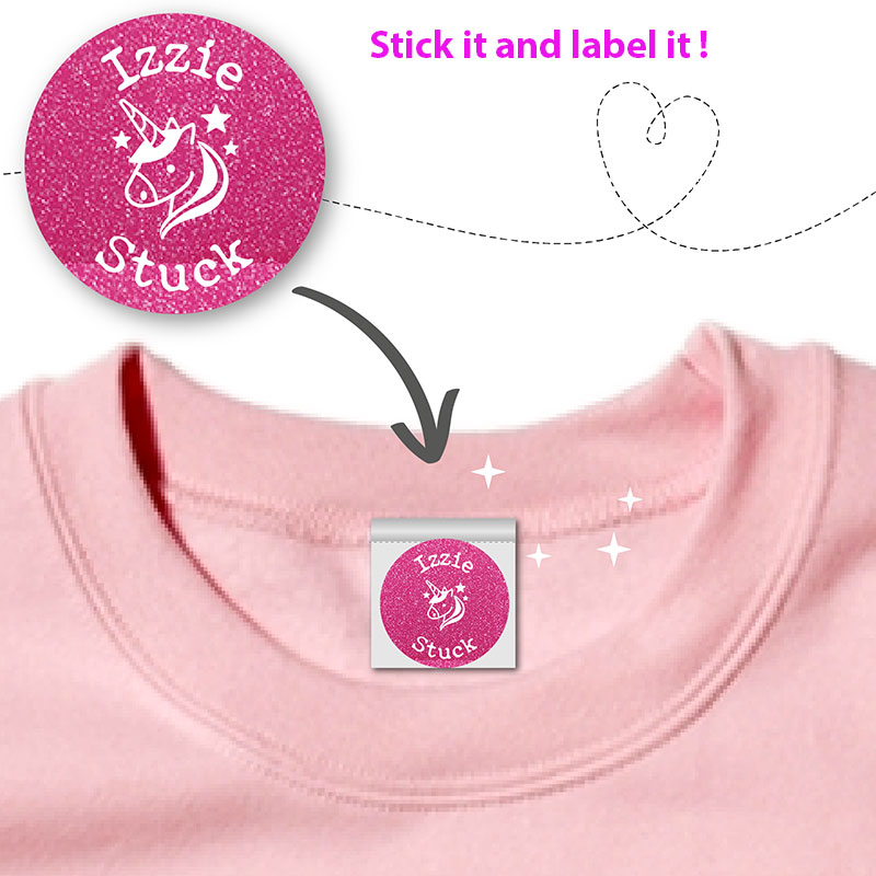 personalised stick on name labels for clothes