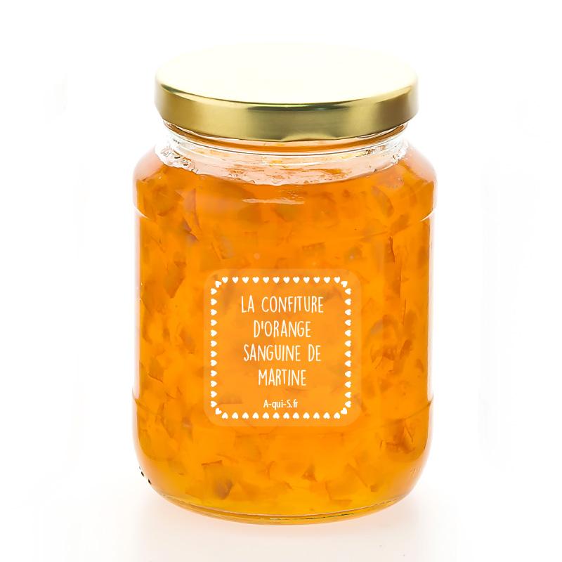 Etiquette confiture d'orange – livraison gratuite | A qui S