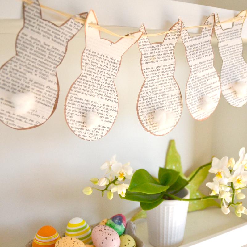 DIY décoration : fabriquer une guirlande lapin – téléchargez gratuitement