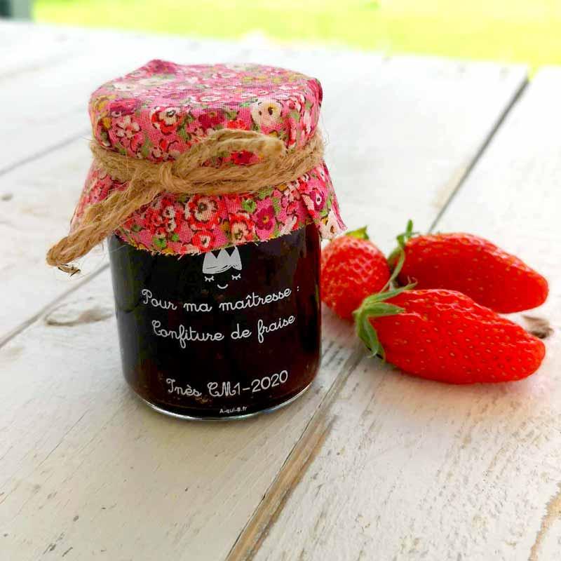 étiquette confiture de fraise