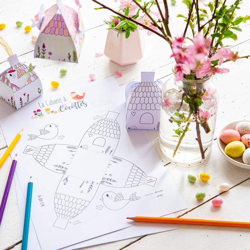 Création de Pâques : DIY cabane à cocotte à imprimer gratuitement