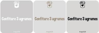 etiquette confiture transparent - confiture 3 agrumes