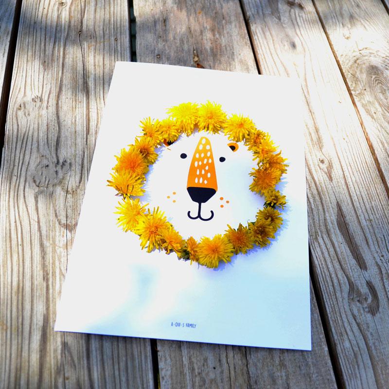 DIY tête de lion fleur : Créez un lion avec une crinière en fleur