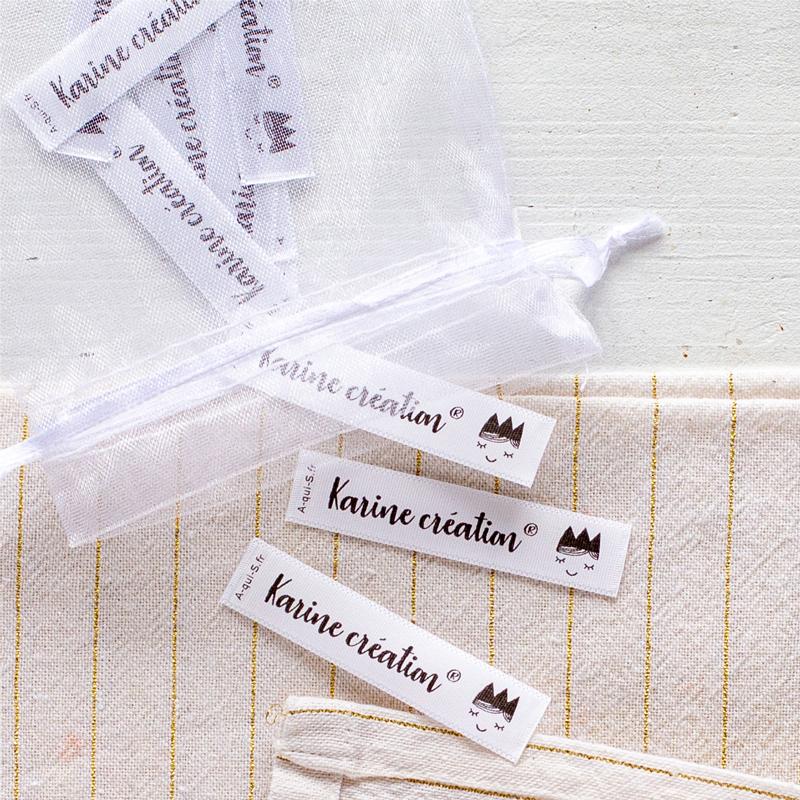 Des étiquettes à coudre personnalisées pour vos créations