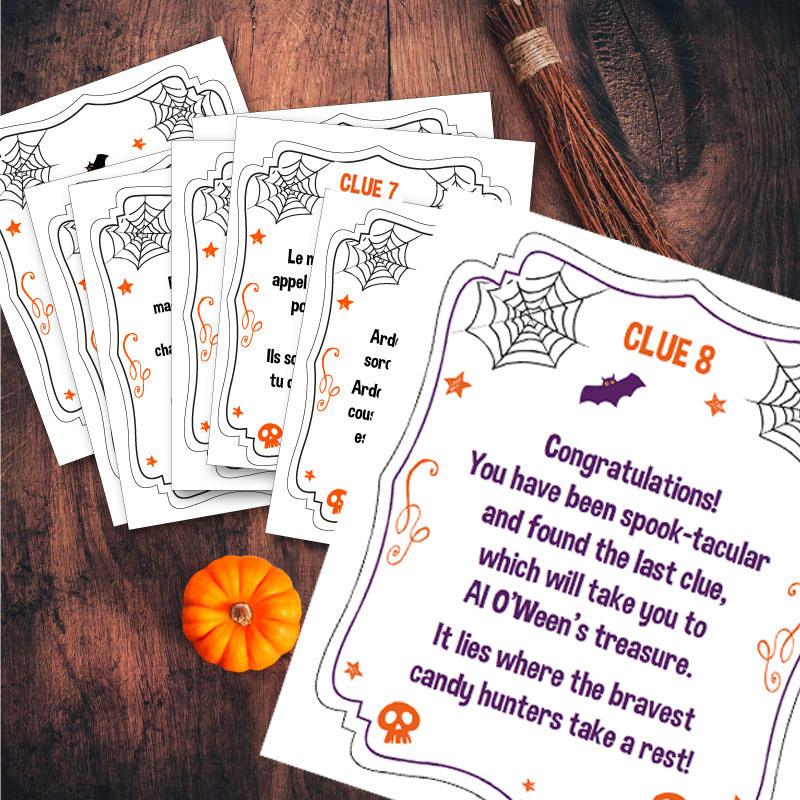 Halloween candy treasure hunt free printable