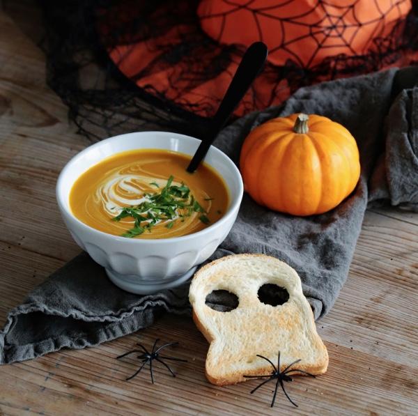 Receta de Halloween: Crema de calabaza y castañas